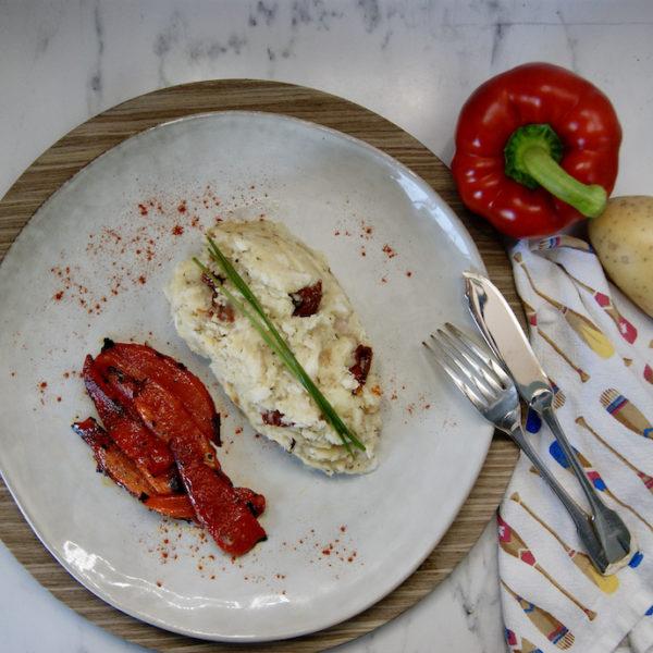 Brandade de cabillaud aux tomates séchées et poivrons