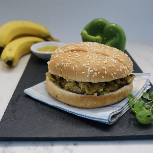 Le burger aux épluchures de bananes et son ketchup