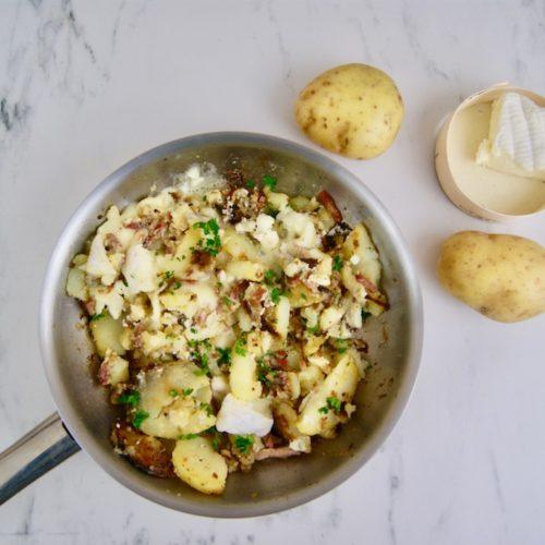 Poêlée de pommes de terre au fromage