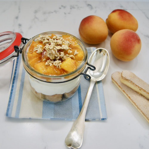 Crème de mascarpone aux abricots à emporter